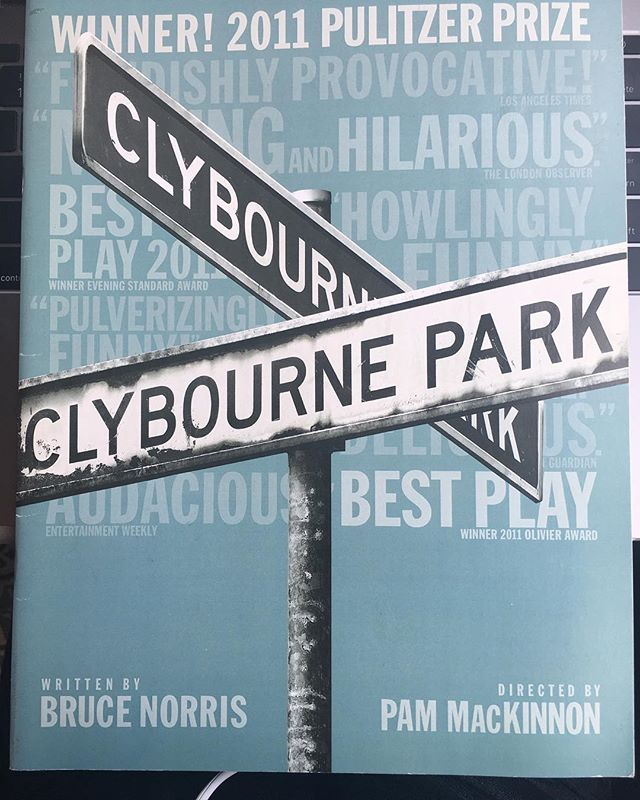 GIVEAWAY ALERT! #Like and Follow @BroadwayHit for a chance to win a souvenir program for #Pulitzer winner #ClybournePark