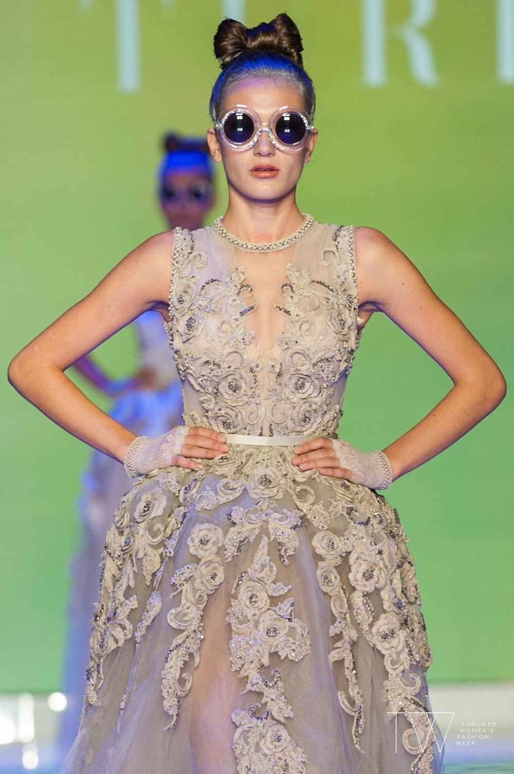 Amato Couture  at Toronto Women's Fashion Week S/S18. Image by Che Rosales.