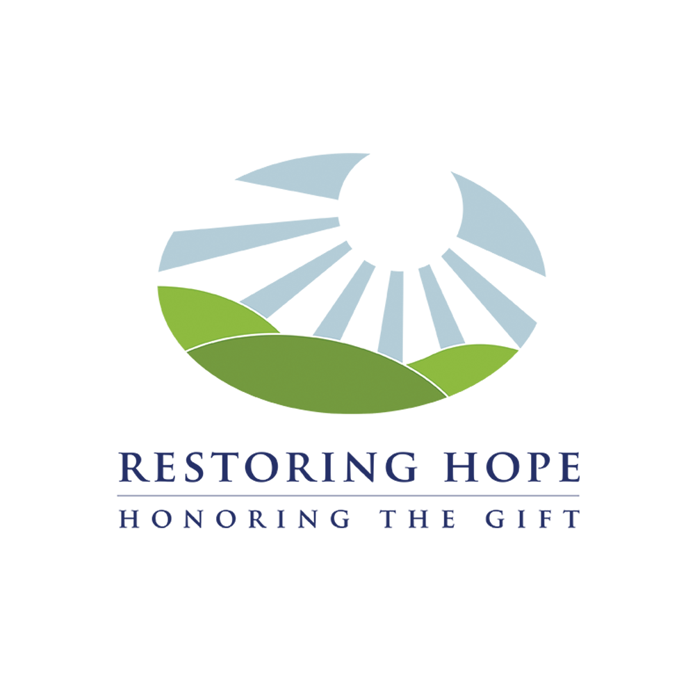 Restoring Hope - Honoring the Gift   The challenge was to create a logo within the Northeast PA Eye Bank's brand to visually identify their legacy program. Playing off their original logo and giving a feeling of peace was created.