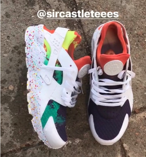 on sale 827fc 2b0a7 Rainbow Color Change Huarache — SirCastleTees