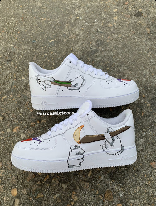 Details about HAND PAINTED CUSTOMISED AIR FORCE 1 DRIPPING PAINT