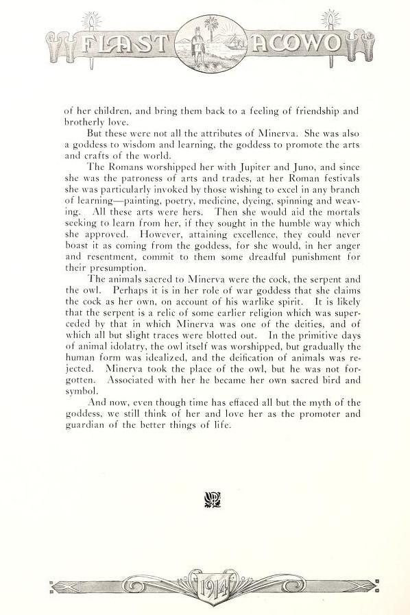 Minerva Club Story 1914