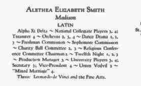 Alethea Smith Senior Legend 1925