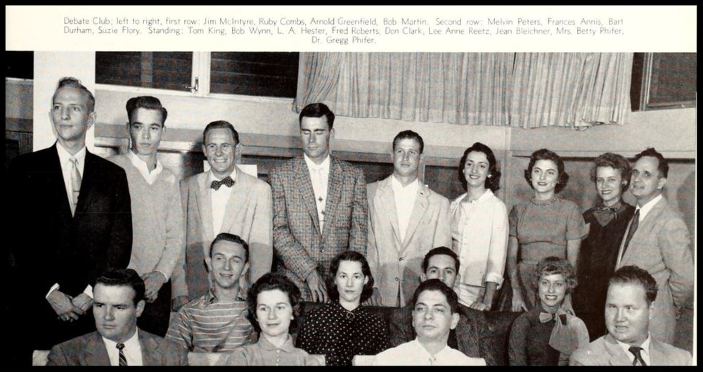 1956 - 1957 Florida State Debate Team