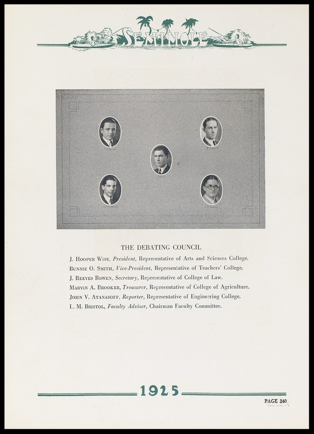 1925 University of Florida Debating Council
