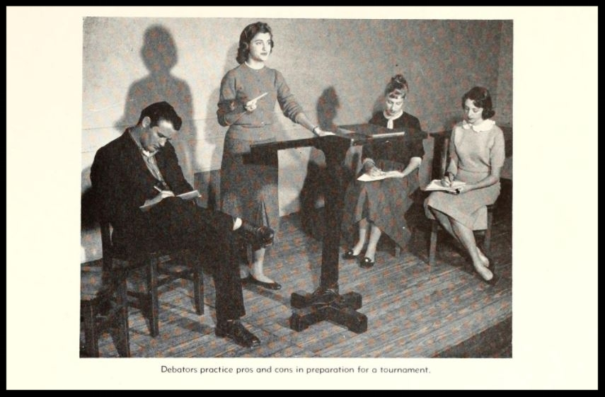 1957 - 1958 Florida State Debate Team Practice