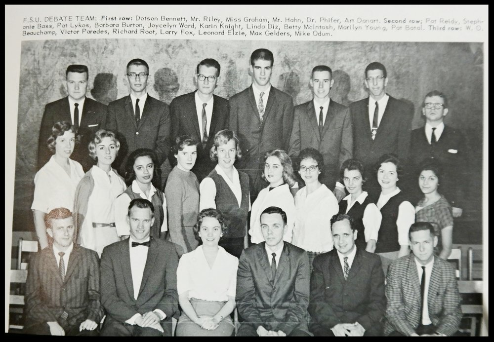 1960 - 1961 - Florida State Debate Team