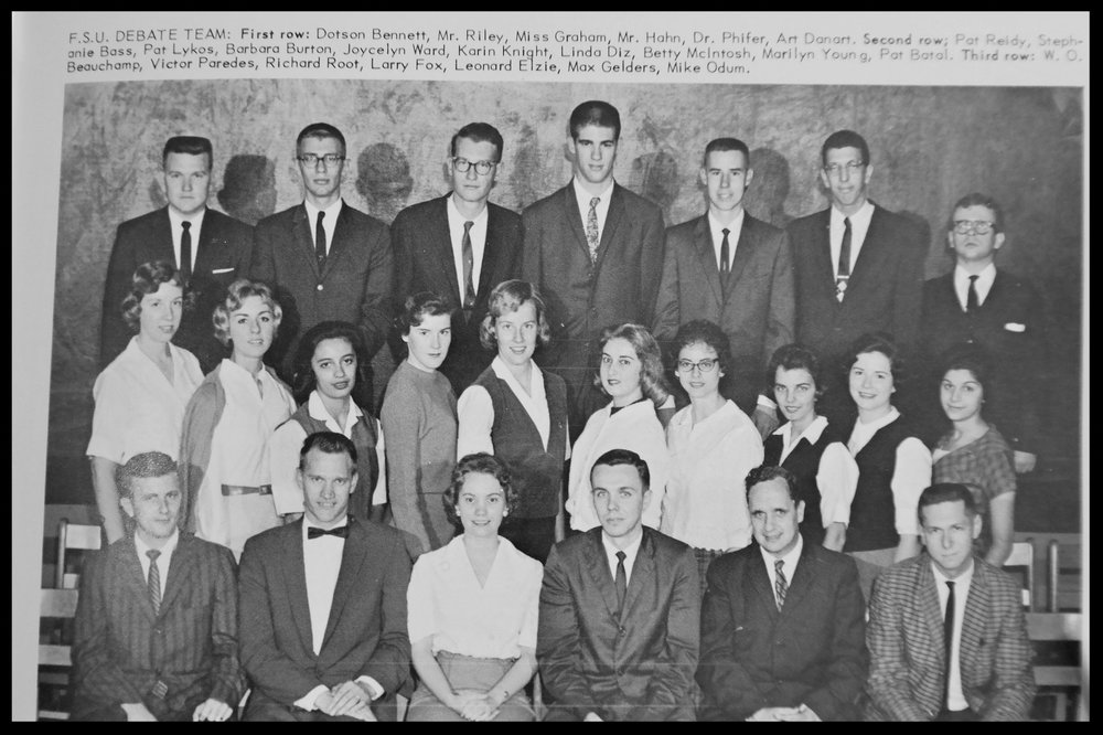 1960 - 1961 Florida State Debate Team