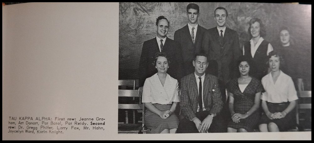 1960 - 1961 Tau Kappa Alpha Honorary
