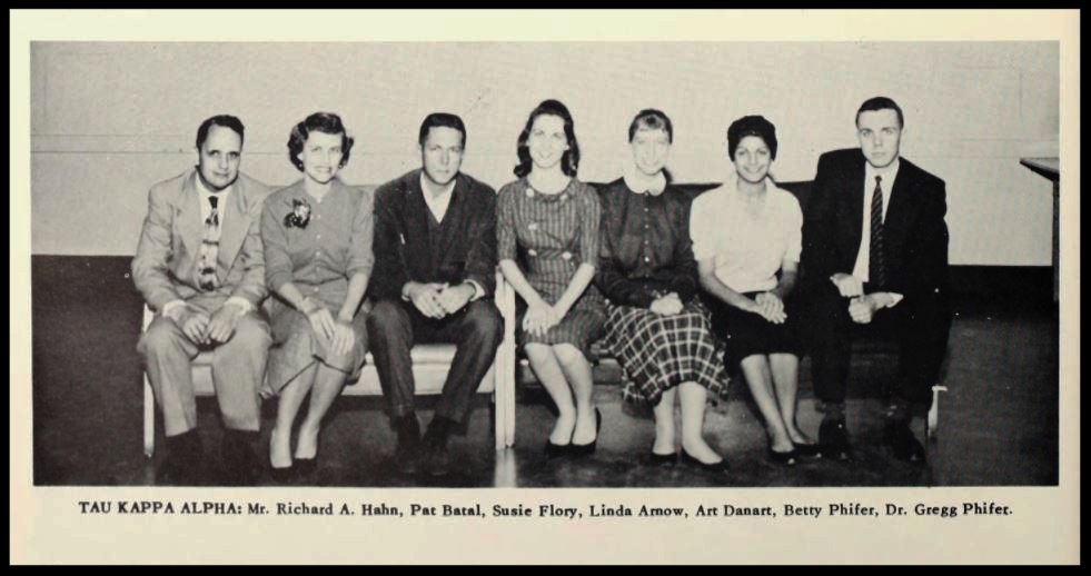 1959 - 1960 Tau Kappa Alpha Honorary