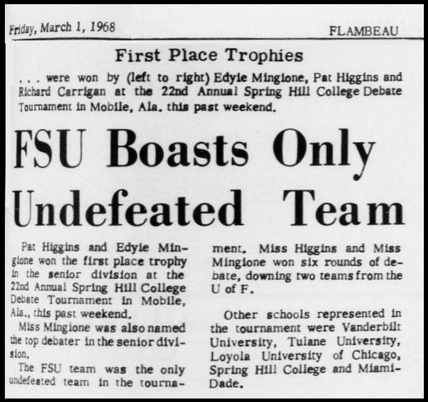 """FSU Boasts Only Undefeated Team"""