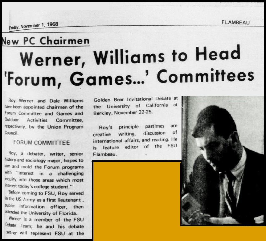 """Werner, Williams to Head 'Forum, Games. . .' Committees"""