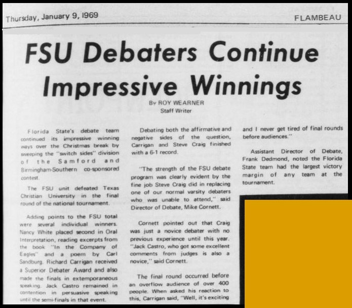 """FSU Debaters Continue Impressive Winnings"""