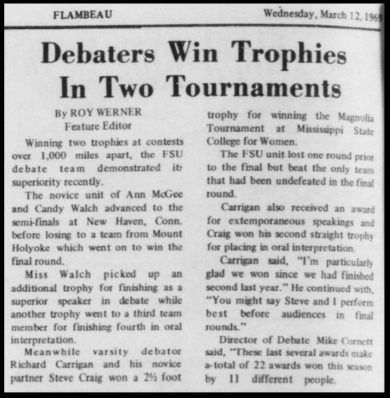 """Debaters Win Trophies In Two Tournaments"""