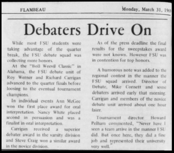 """Debaters Drive On"""