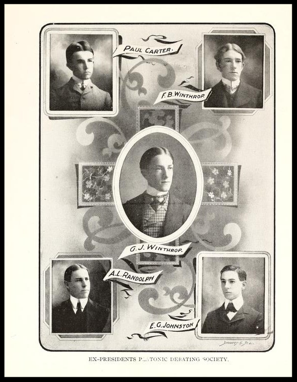 Ex-Presidents of the Platonic Debating Society 1900 - 1901