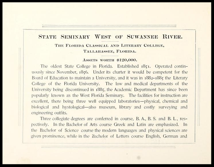 State Seminary West of Sewanee River