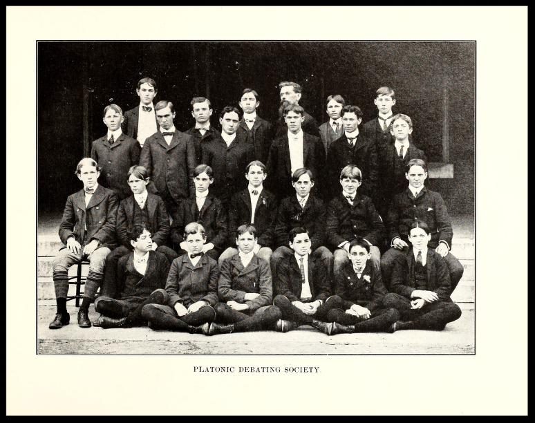 Platonic Debating Society 1901 - 1902