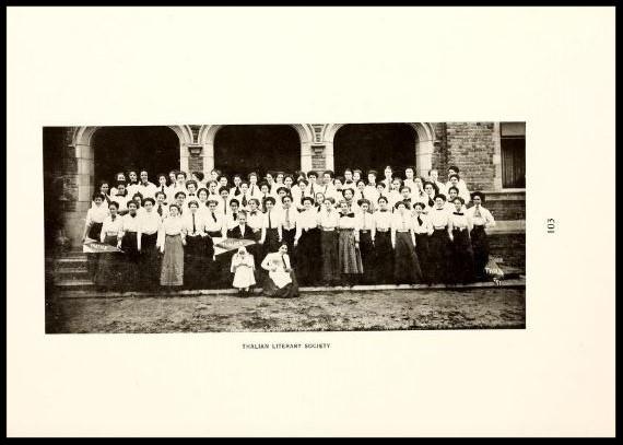 Thalian Literary Society 1909 - 1910