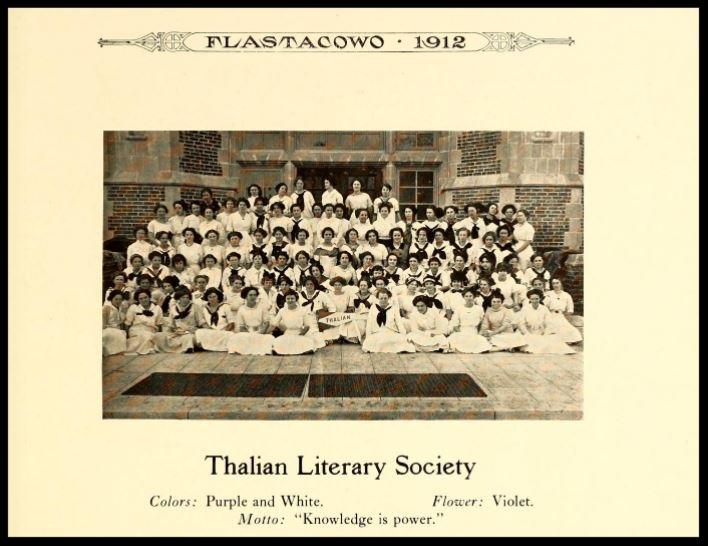 1911-1912 Thalian Literary Society