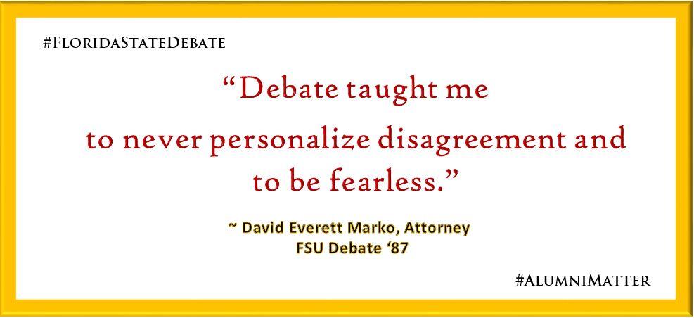 #DebateMatters David Marko '87