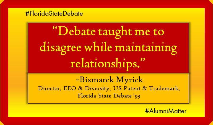 #DebateMatters Bismarck Myrick '93