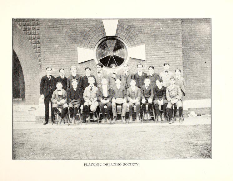 Platonic Debating Society 1900 - 1901