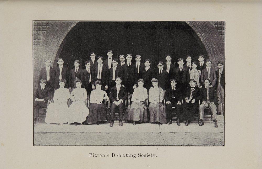 Platonic Debating Society - 1903 - 1904