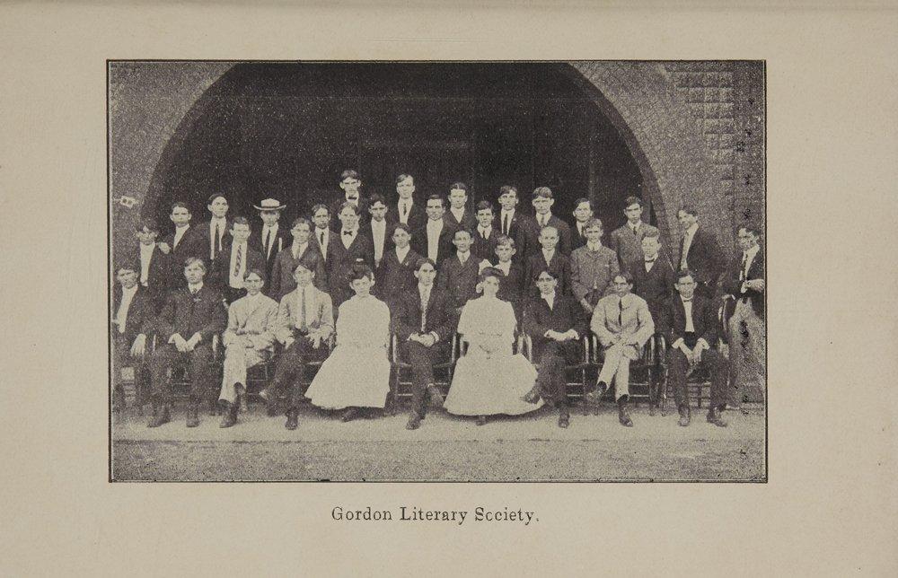 Gordon Literary Society - 1903 - 1904
