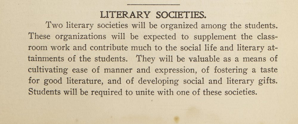 LITERARY SOCIETIES