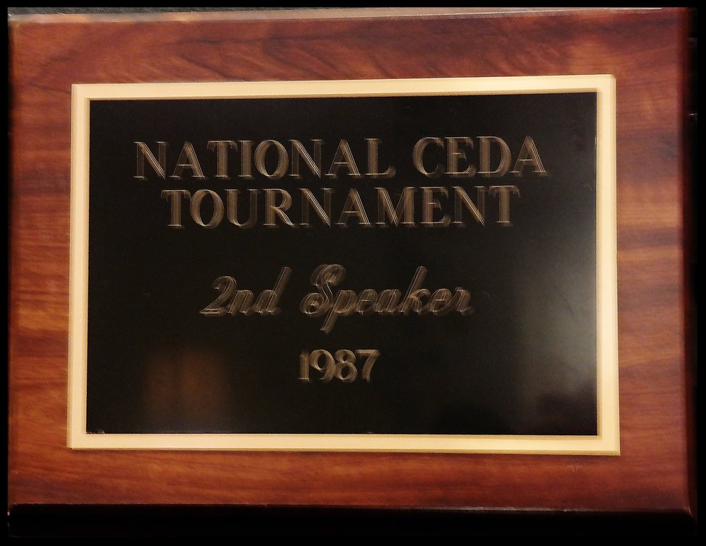 1987 Second Speaker CEDA National Tournament