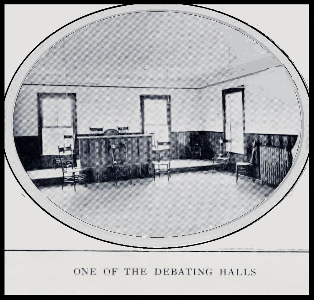 ONE OF THE DEBATING HALLS
