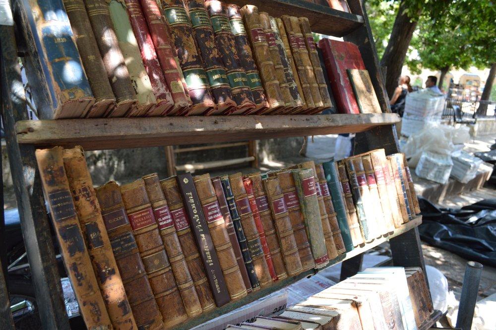 Vintage books at the Plaza de Armas