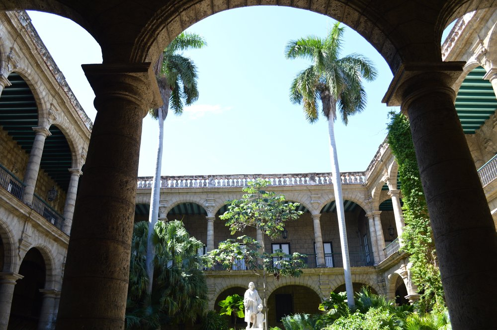 The view inside the Museo del Ciudad, across from the Plaza de Armas