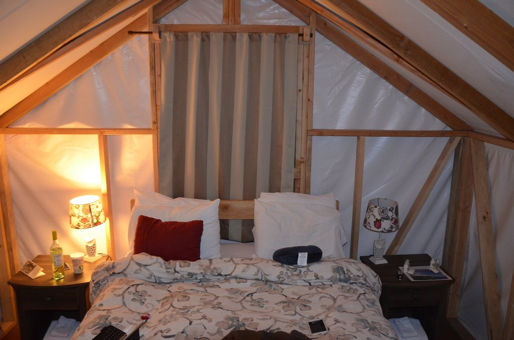 The tent cabin at Fernwood Resort