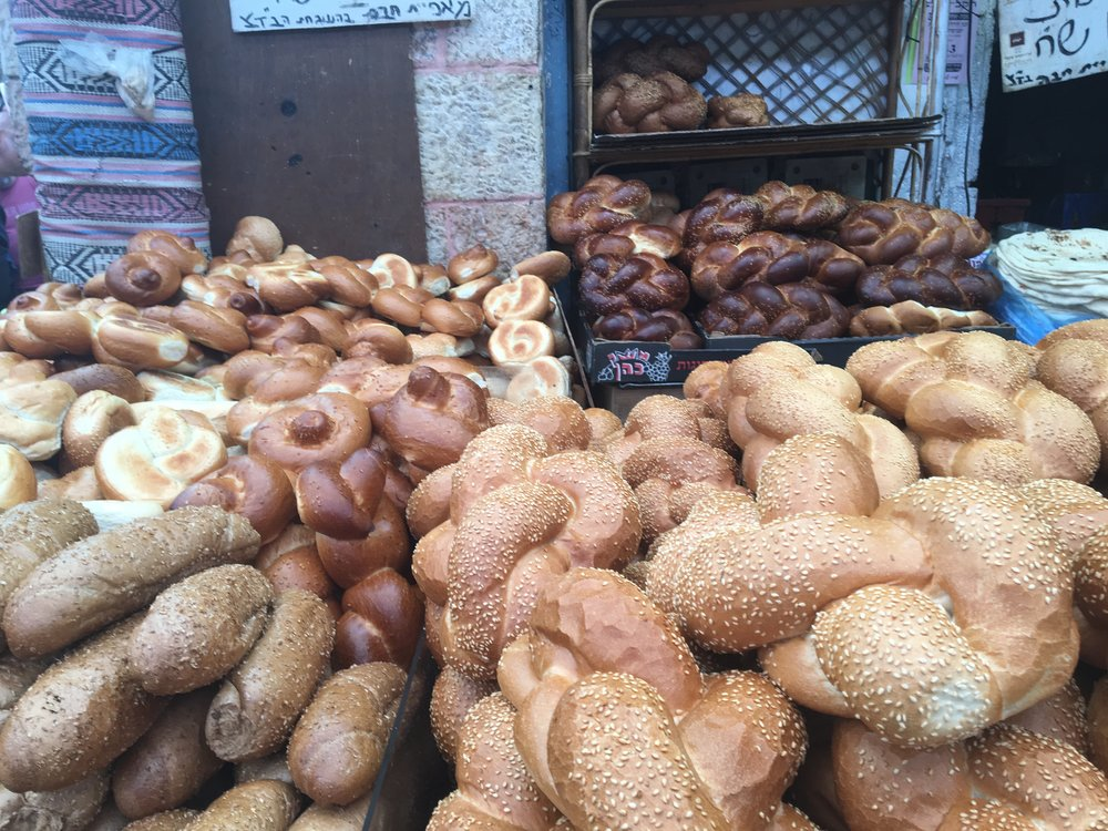 Challah at the Machane Yehuda Market in Jerusalem
