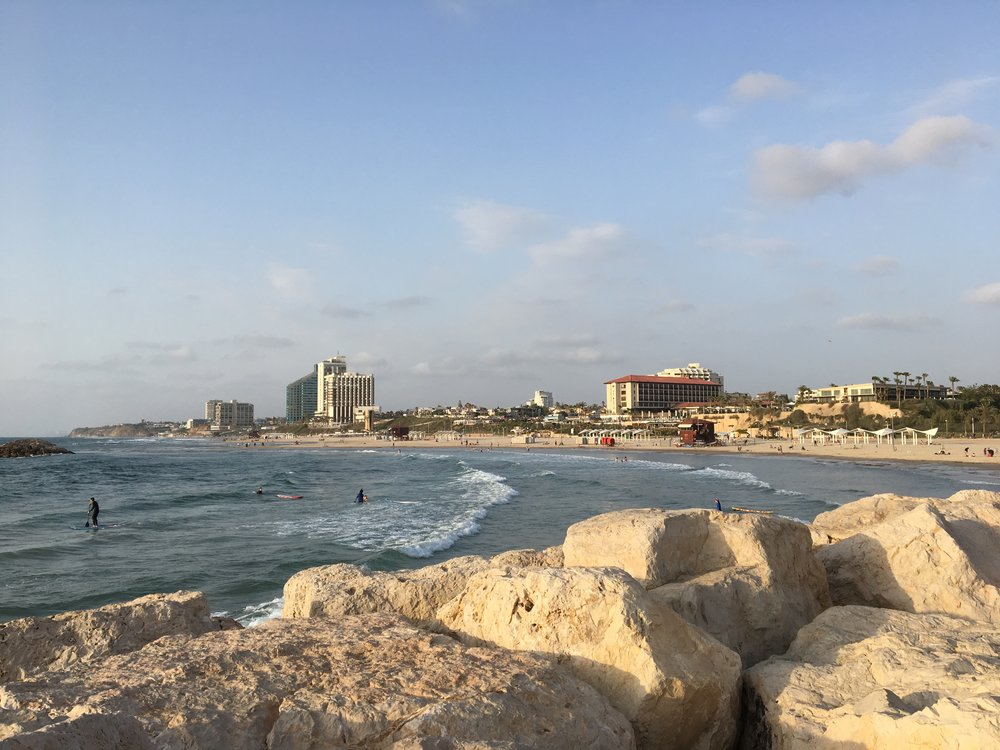 Beach by the Herzliya Marina
