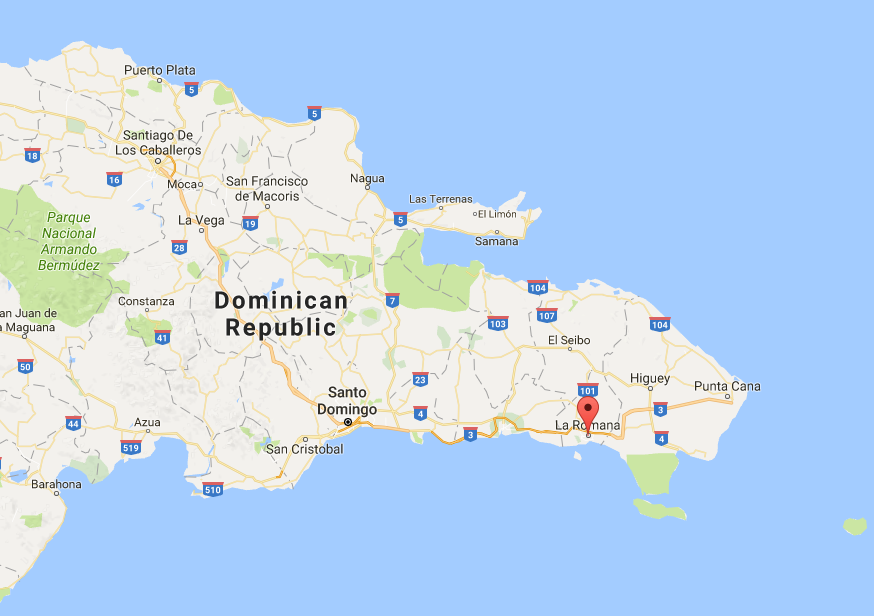 La Romana is where the red point is...