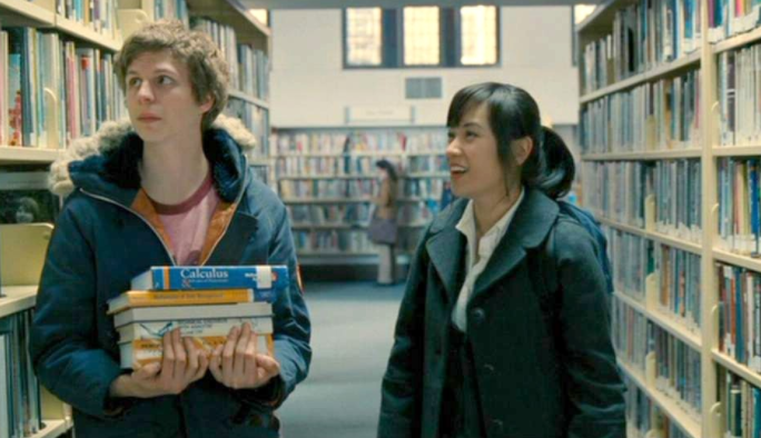 Ellen Wong alongside actor Michael Cera in Scott Pilgrim Vs. The World