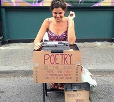 A way with words: Travelling street poet stops in Toronto