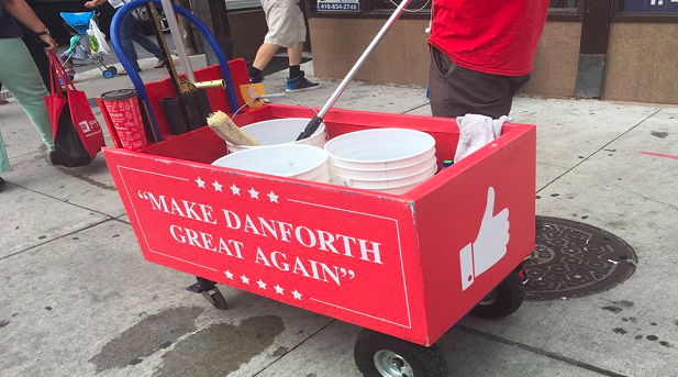 'It's ridiculous': Community upset over 'Make Danforth Great Again' slogan