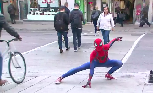 'With great power comes great responsibility,' Toronto Spiderman says after subduing alleged shoplifter