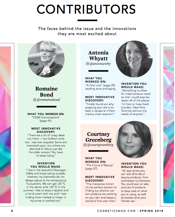 Cosmetics Magazine - Spring 2018 issue