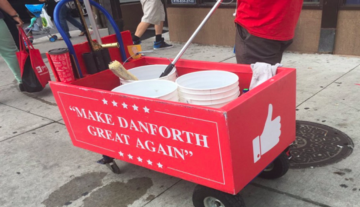 'It's ridiculous': Community upset over 'Make Danforth Great Again' slogan - Some residents are upset after a Toronto neighbourhood decided to borrow a slogan from U.S. President Donald Trump's campaign.