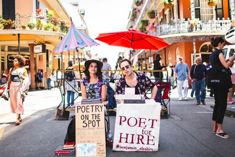 A way with words: Travelling street poet stops in Toronto - On Saturday night Tania Panés sat on the street in the Queen West neighbourhood with a 1943 Hermes Baby typewriter, a table and a sign that says: Poetry on the Spot.