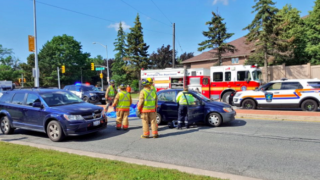 Nine-vehicle crash in Burlington as driver flees scene - One person is in police custody for failing to remain at the scene of a multi-vehicle collision in Burlington on Friday.
