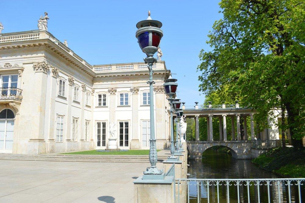 A palace at the Royal Baths park