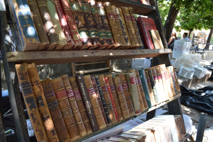 Vintage books at the  Plaza de Armas