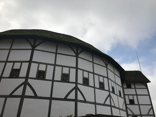 The outside of the Globe Theatre.