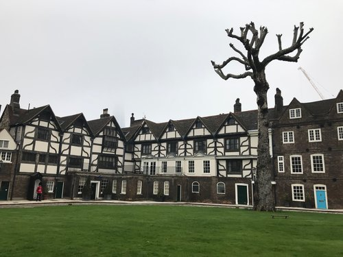 Original Tudor-style homes on the Tower of London property.